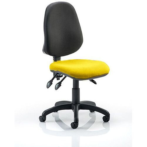 Eclipse III Lever Task Operator Office Chair Sunset Yellow Seat