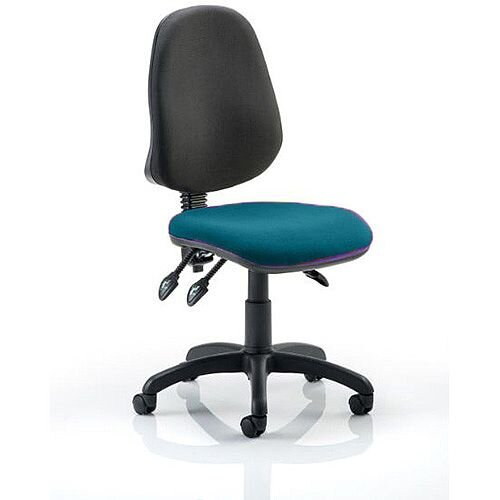 Eclipse III Lever Task Operator Office Chair Kingfisher Green Seat