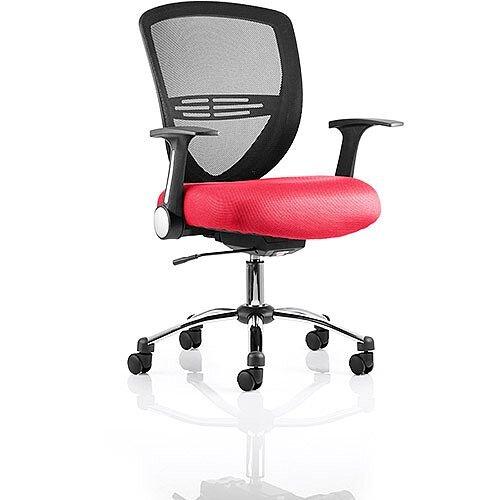 Iris Task Operator Office Chair Cherry Red