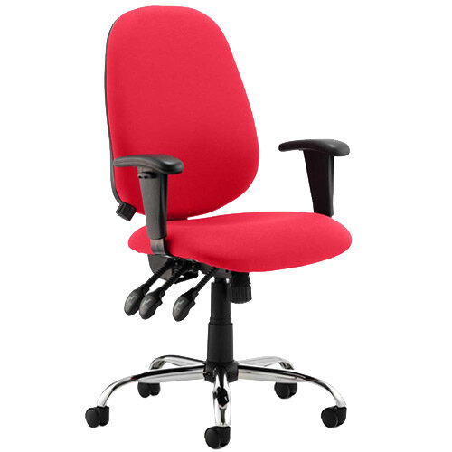 Lisbon High Back Task Operator Office Chair Cherry Red