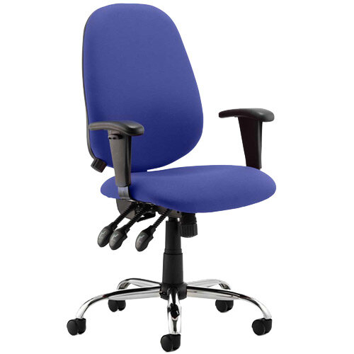 Lisbon High Back Task Operator Office Chair Serene Blue
