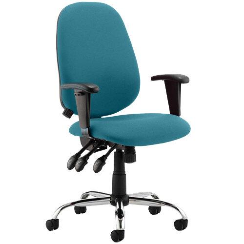 Lisbon High Back Task Operator Office Chair Kingfisher Green