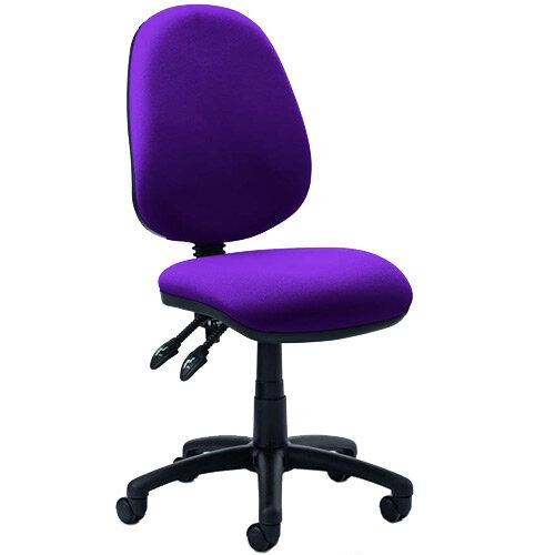 Luna II Lever Task Operator Office Chair Purple
