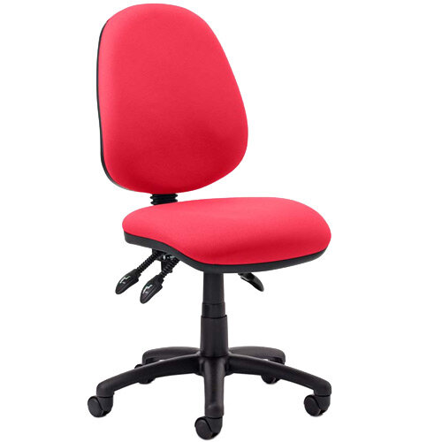 Luna III Lever Task Operator Office Chair Cherry Red