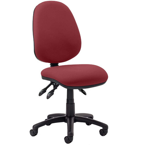 Luna III Lever Task Operator Office Chair Chilli Red