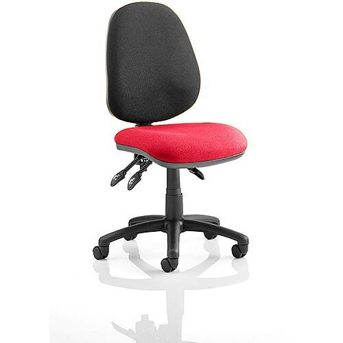 Luna III Lever Task Operator Office Chair Cherry Red Seat