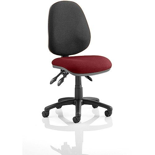 Luna III Lever Task Operator Office Chair Chilli Red Seat