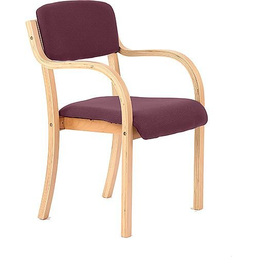 Madrid Boardroom &Visitor Chair With Arms Purple