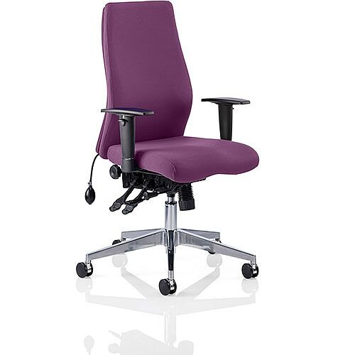 Onyx High Back Ergonomic Posture Office Chair Purple With Arms