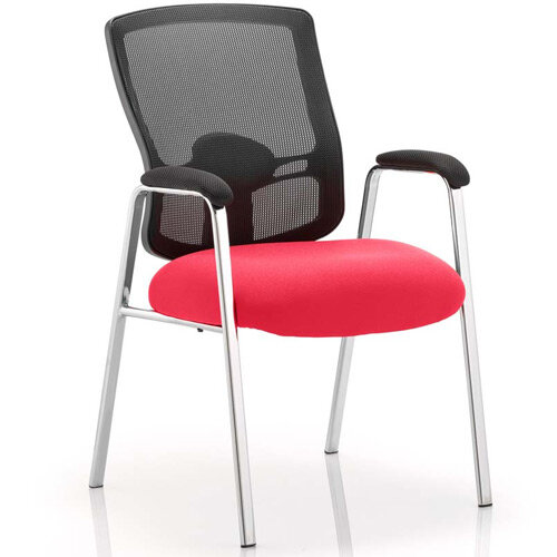 Portland Boardroom &Visitor Chair Cherry Red