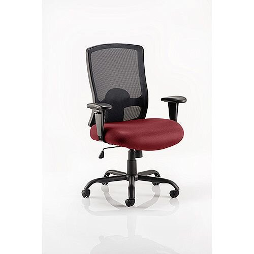 Portland HD Mesh Back Task Operator Office Chair Chilli Red