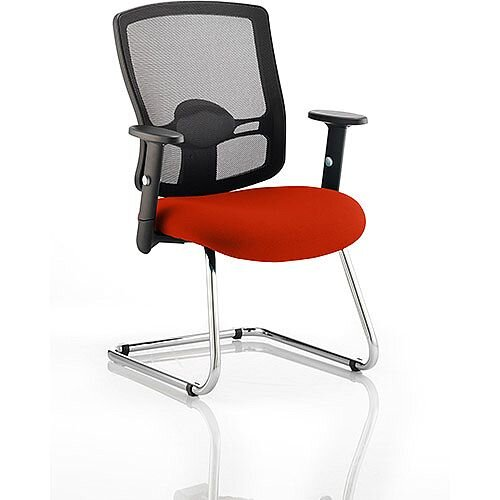 Portland Boardroom &Visitor Chair Cantilever Pimento Rustic Orange