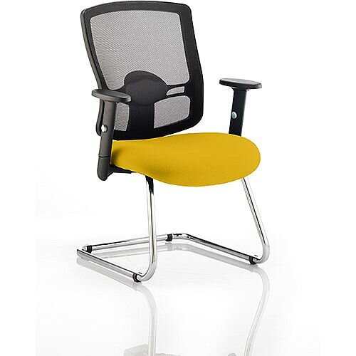 Portland Boardroom &Visitor Chair Cantilever Sunset Yellow