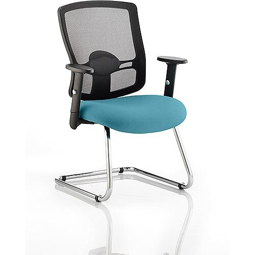 Portland Boardroom &Visitor Chair Cantilever Kingfisher Green