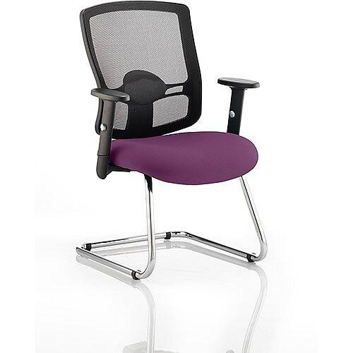 Portland Boardroom &Visitor Chair Cantilever Purple