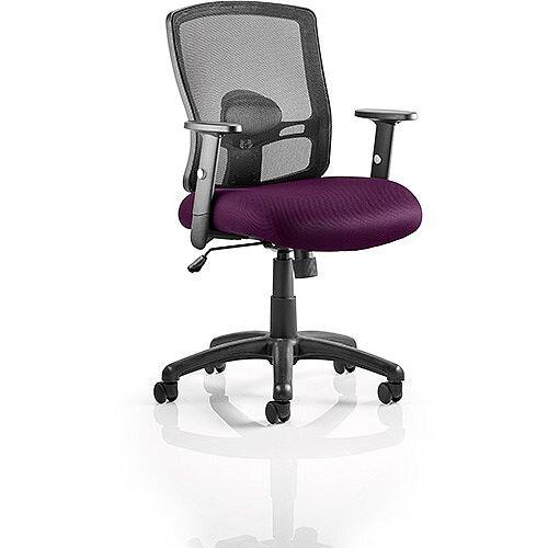 Portland Mesh Back Task Operator Office Chair Purple