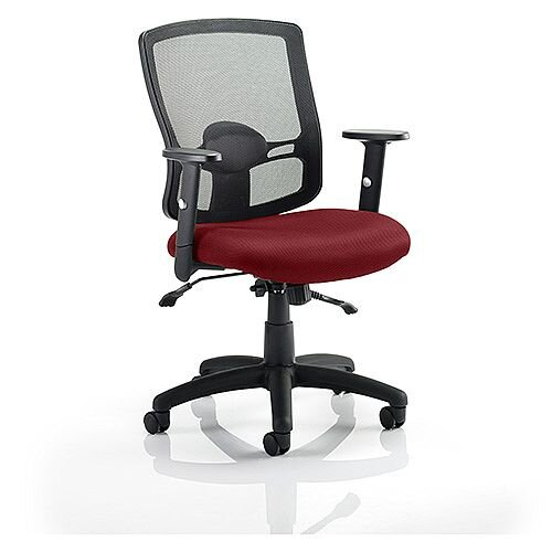 Portland II Mesh Back Task Operator Office Chair Chilli Red