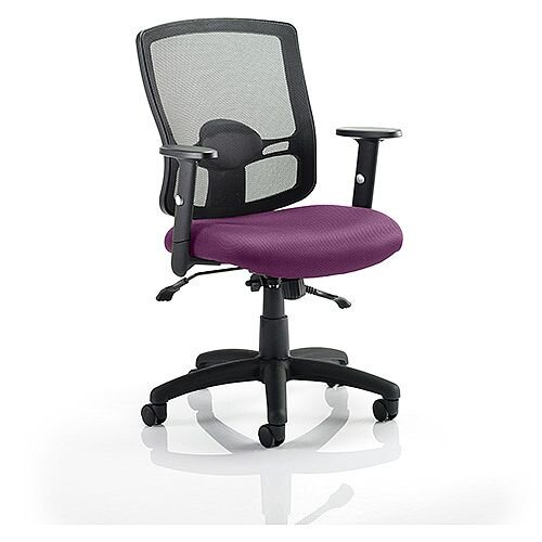 Portland II Mesh Back Task Operator Office Chair Purple