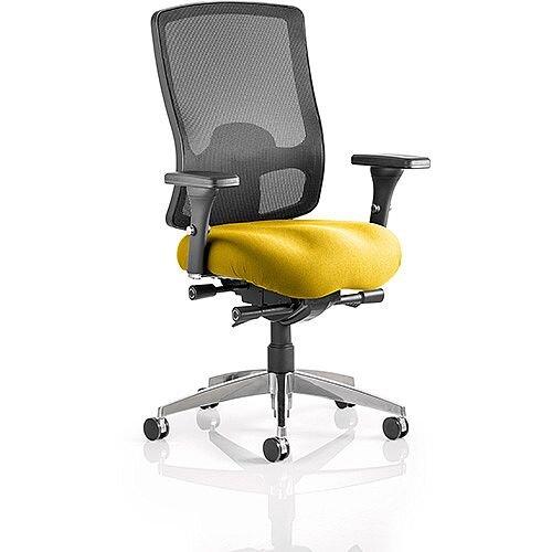 Regent High Mesh Back Task Operator Office Chair Sunset Yellow