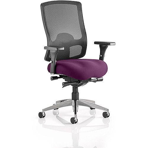 Regent High Mesh Back Task Operator Office Chair Purple