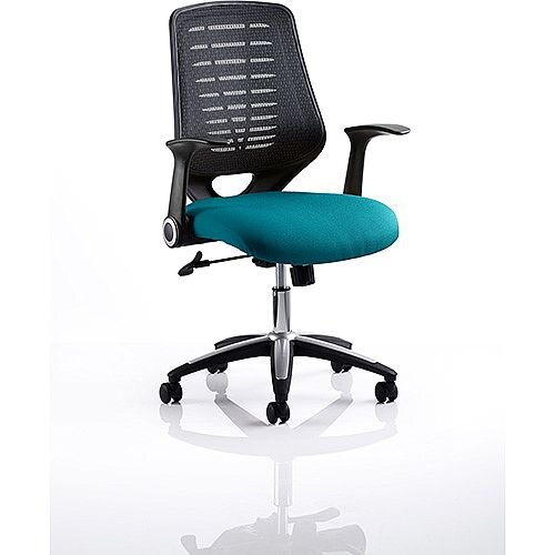 Relay Task Operator Office Chair Black Back Kingfisher Green