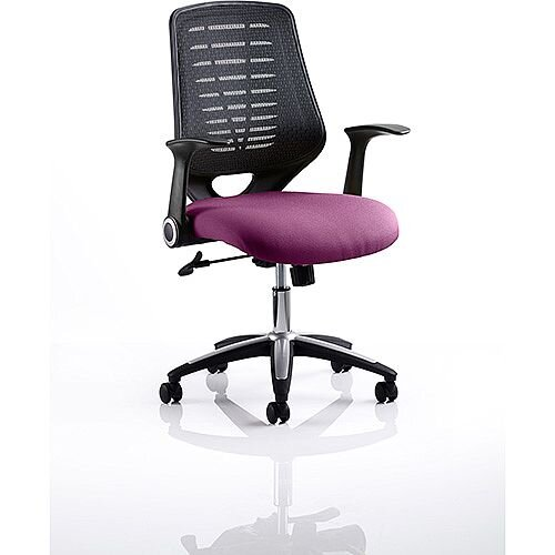 Relay Task Operator Office Chair Black Back Purple