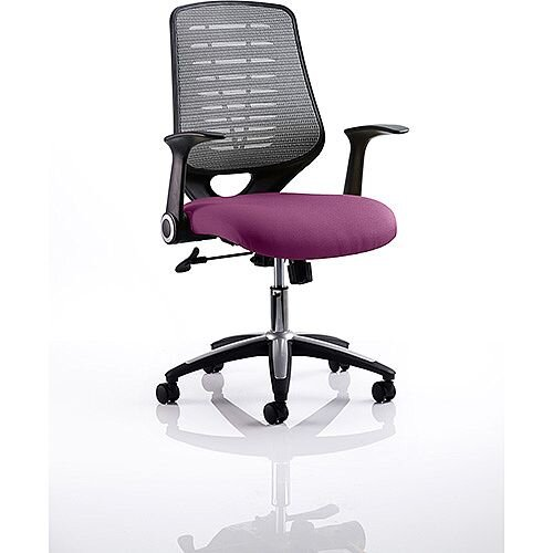Relay Task Operator Office Chair Silver Back Purple
