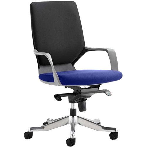 Xenon Executive Office Chair Black Frame Medium Back Black &Serene Blue Seat