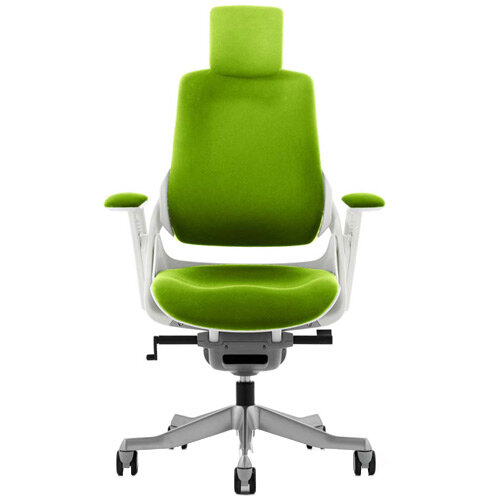 Zure High Back Executive Office Chair With Arms &Headrest Swizzle Green