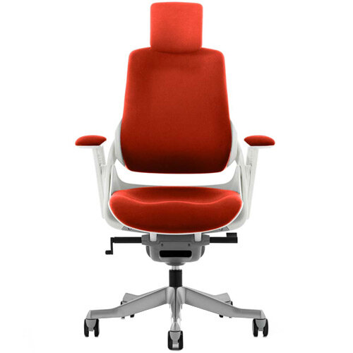 Zure High Back Executive Office Chair With Arms &Headrest Pimento Rustic Orange