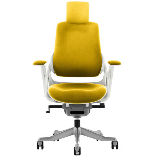 Zure High Back Executive Office Chair With Arms &Headrest Sunset Yellow
