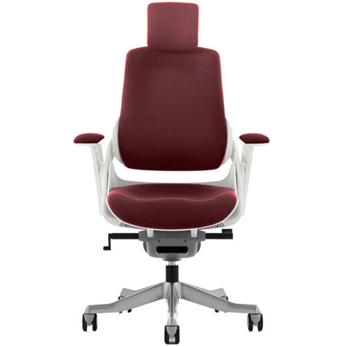 Zure High Back Executive Office Chair With Arms &Headrest Chilli Red