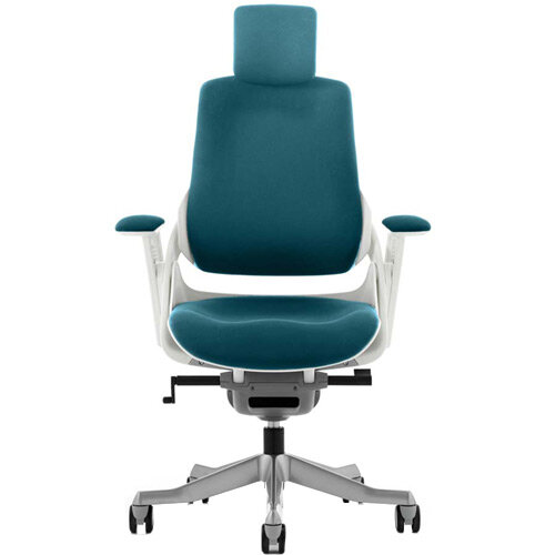 Zure High Back Executive Office Chair With Arms &Headrest Kingfisher Green