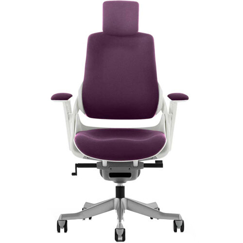 Zure High Back Executive Office Chair With Arms &Headrest Purple
