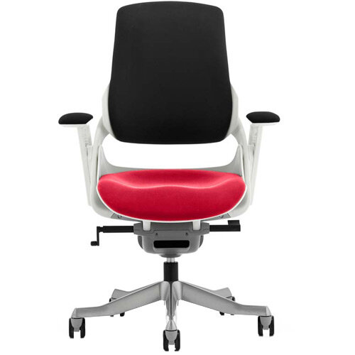 Zure High Back Executive Office Chair Black Back &Cherry Red Seat