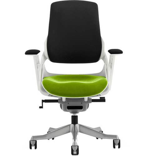 Zure High Back Executive Office Chair Black Back &Swizzle Green Seat
