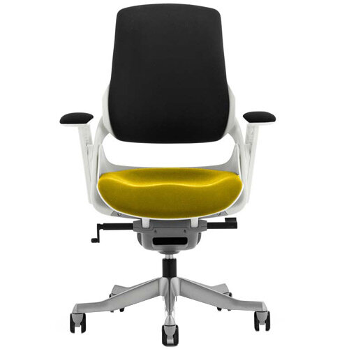 Zure High Back Executive Office Chair Black Back &Sunset Yellow Seat
