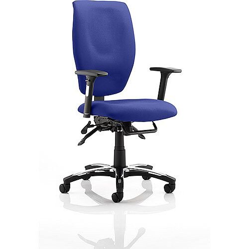 Sierra Executive Office Chair Serene Blue Fabric With Arms