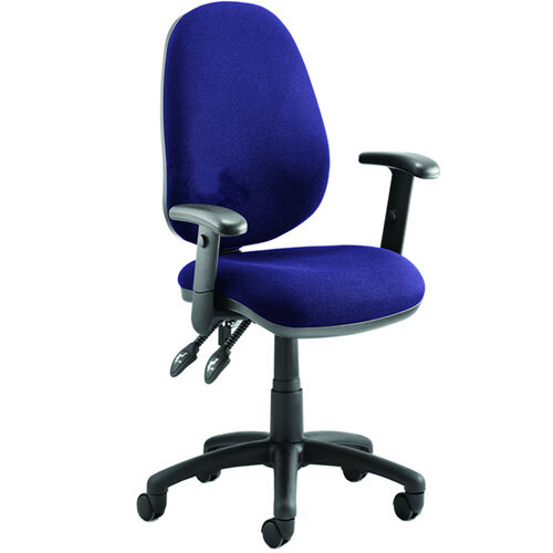 Luna II Lever Task Operator Office Chair With Height Adjustable Arms In Serene Blue