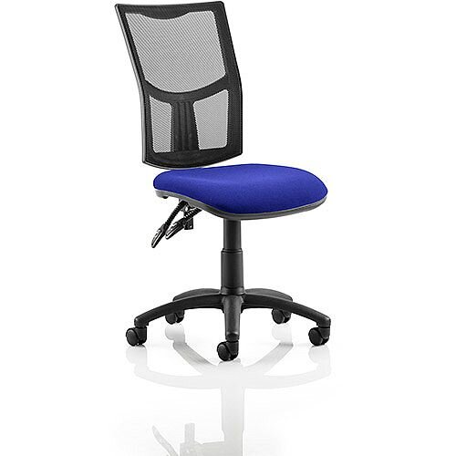 Eclipse II Lever Task Operator Office Chair Mesh Back With Serene Blue Seat