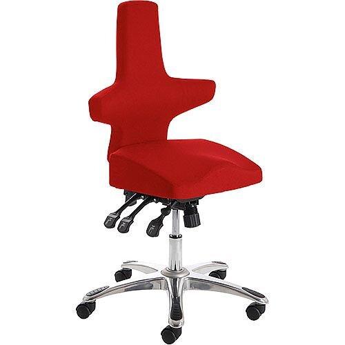 Saltire Ergonomic Posture Office Chair Black Cherry Red Seat