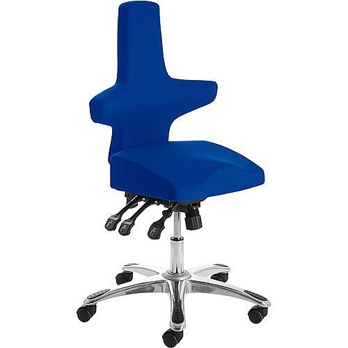 Saltire Ergonomic Posture Office Chair Black Serene Blue Seat
