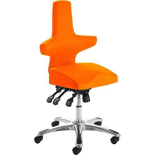 Saltire Ergonomic Posture Office Chair Black Pimento Rustic Orange Seat