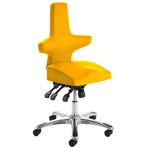 Saltire Ergonomic Posture Office Chair Black Sunset Yellow Seat
