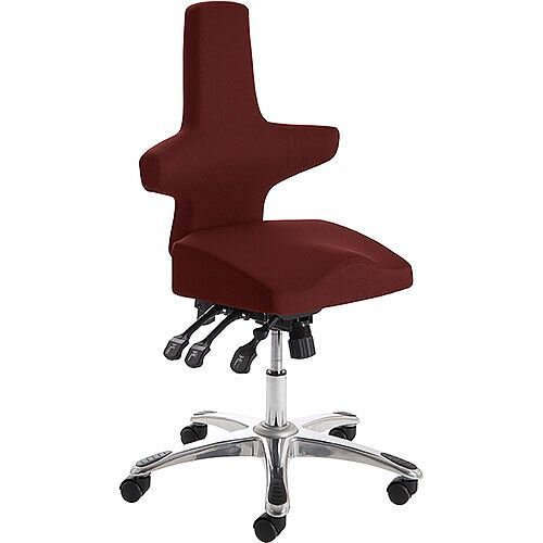 Saltire Ergonomic Posture Office Chair Black Chilli Red Seat