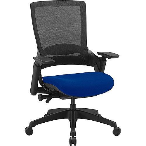 Molet Task Exec Black Frame Black Mesh Back Office Chair With Serene Blue Seat