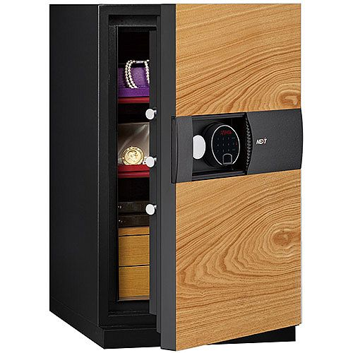 Phoenix Next LS7003FO Luxury Safe Size 3 Oak with Fingerprint Lock Oak 82L 60min Fire Protection