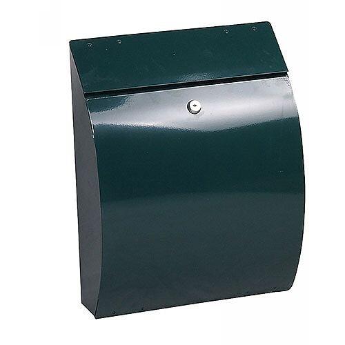 Phoenix Curvo MB0112KG Top Loading Mail Box in Green with Key Lock Green