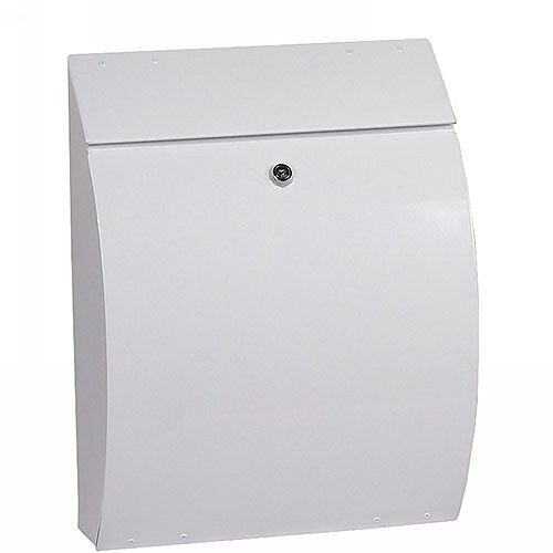 Phoenix Curvo MB0112KW Top Loading Mail Box in White with Key Lock White