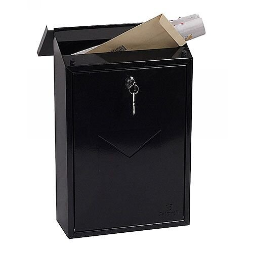 Phoenix Villa MB0114KB Top Loading Mail Box in Black with Key Lock